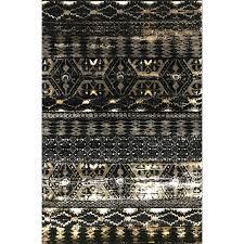 kenneth black gold area rug