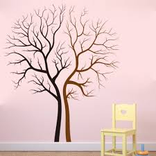 Removable Twins Tree Wall Decal Lover Black And Brown Tree Wall Decals Home Decoration Vinyl Art Decor For Living Room Kw 97 Decoration For Living Room Home Decorart Decor Aliexpress