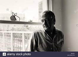 Adrian Mitchell 1983. Adrian Mitchell 1983. Portrait. English poet,  novelist and playwright. Photograph by Fay Godwin. Source: FG5759-3-12  Stock Photo - Alamy