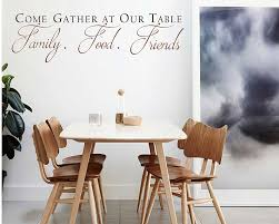 Come Gather At Our Table Decal With Scroll Design Dining Room Wall Art Kitchen Quote Wall Sticker Dining Room Decor