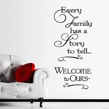Inspirational Every Family Has A Story To Tell Quotes Wall Stickers Home Decor Living Room Vinyl Wall Decals Diy Wallpaper Wall Stickers Aliexpress
