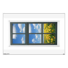 Fake Window View Wall Decals Stickers Zazzle