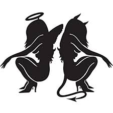 Amazon Com Sexy Devil And Angel Girls Vinyl Decal Car Window Wall Laptop Sticker Die Cut Vinyl Decal For Windows Cars Trucks Tool Boxes Laptops Macbook Virtually Any Hard Smooth Surface Automotive