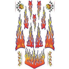 Pinewood Derby Car Decals Flames