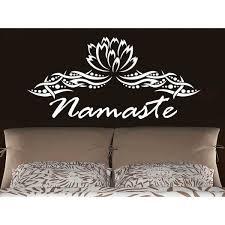 Shop Namaste Lotus Flower Yoga Wall Art Sticker Decal White Overstock 11947985