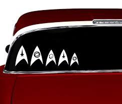 Star Trek Family Decals Trek Car Window Stickers By 4everretro 12 95 Family Decals Star Trek Trek