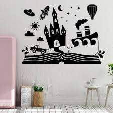 Cartoon Fairy Book Wall Stickers Nuesery Kids Room Castle Vinyl Wall Decal Childrens Room Decor Reading Room Decoration Wall Art Quotes Wall Art Quotes Stickers From Joystickers 11 75 Dhgate Com