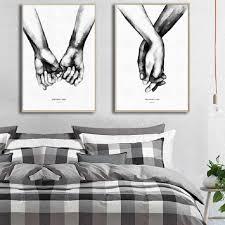 الحديثة الأزواج الحلو الحب مجردة قماش لوحات رسم المشارك و طباعة