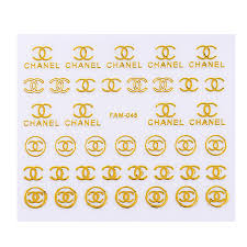 30 Pcs Lot Gold Shiny Nail Stickers Brand Logo 3d Nail Art Stickers Decals Self Adhesive Manicure Diy For Nails Decoration Stickers Decals Aliexpress
