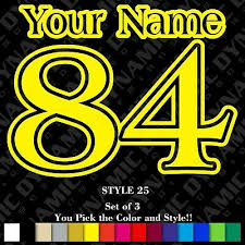 Car Truck Graphics Decals Name Mx Number Plate Decals Motocross Stickers Atv Bmx Race Dirt Bike Car Trial Auto Parts And Vehicles