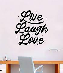 Amazon Com Boop Decals Live Laugh Love V3 Wall Decal Sticker Bedroom Home Room Art Vinyl Inspirational Decor Teen Motivational Boy Girl Beautiful Family Smile Good Vibes Nursery Playroom Kids Baby Home