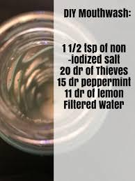 how to make homemade mouthwash oils