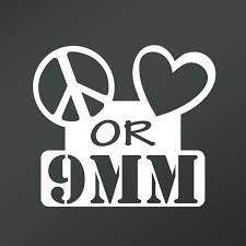 Peace Love Or 9mm Vinyl Decal Sticker Cars Trucks Vans Walls Laptops Cups White 5 5 X 4 9 Inch Kcd1654 Walmart Com Walmart Com
