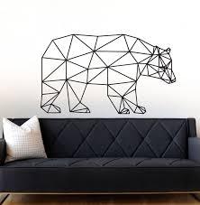 Geometric Bear Wall Decal Sticker Decals Market