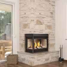 marvelous corner gas fireplace insert
