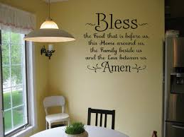 Bless The Food Before Us Amen Religious Dining Room Wall Decal Kitchen Vinyl For Sale Online