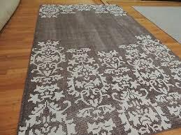 vintage look area rug beige white lace