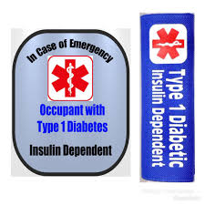 Type 1 Diabetic Backpack Strap Car Seat Strap Cover Window Decal S Safety Awareness Products