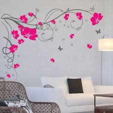 Large Butterfly Vine Flowers Butterflies Wall Decal Tree Wall Murals Wall Stickers Contemporary Wall Stickers
