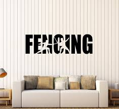 Wall Decal Fencing Sports Word Duel Scramble Swords Vinyl Sticker Ed1 Wallstickers4you