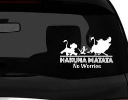 Hakuna Matata Cute Vinyl Car Decal Sticker 7 5 W W Lion King Pumba No 3 Ebay
