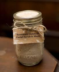 rosemary oatmeal scrub mask in