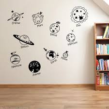 Wall Stickers Home Decor Diy Poster Decal Nursery Mural Vinyl Personized Solar System Spaceship In Universe Childrens Wall Sticker Stickers Home Decorstickers Home Aliexpress