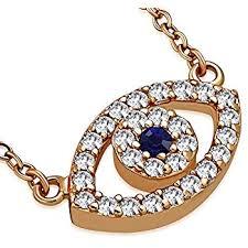 925 sterling silver rose gold evil eye