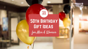 50th birthday gift ideas for men and women