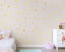 Golden Stars Vinyl Decals Gold Stars Wall Stickers Peel And Etsy Gold Wall Decor Star Vinyl Wall Stickers Stars