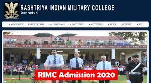 Rashtriya Indian Military College Entrance Exam - 2020.