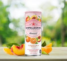 clementine and peach sparkling drink