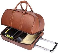 leathario leather luggage travel duffle