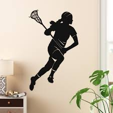 Trule Female Lacrosse Player Silhouette Wall Decal Wayfair