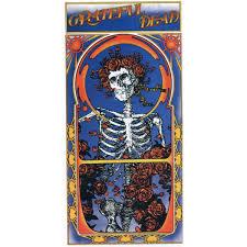 Grateful Dead Skeleton Roses Album Cover Art Decal Window Sticker