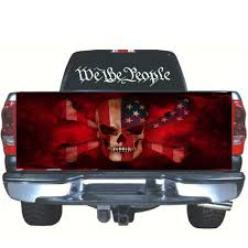 Sticker American Flag Skull Tailgate Wrap Vinyl Graphics Decal For Truck 167 58cm Buy At A Low Prices On Joom E Commerce Platform