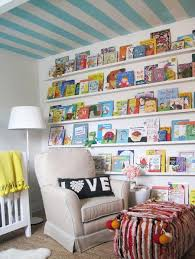 Striped Kids Room With Colourful Book Display Elizabeth Sullivan Design House Home Live This For An Office Too My House My Homemy House My Home