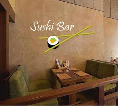Cik888 Full Color Wall Decal Japanese Food Is Sushi Bar Japanese Resta Stickersforlife