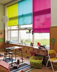 Why Choose One Colour For The School Room Window When You Can Choose Three All With Softraise Control To M Cool Curtains Simple Kids Rooms Kids Room Furniture