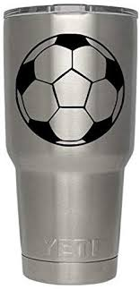 Classy Vinyl Creations Soccer Ball Decal For Yeti Tumbler Tumbler Not Included Decal Ozark Trail Tumbler Decal Black Or White Decals 3 7 H X 3 7 W Amazon Com