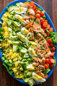 Salmon Cobb Salad Recipe (VIDEO ...