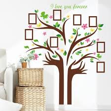 Large Family Tree Vinyl Wall Decal Diy Wall Art Hand Shape Tree Branches Leaves Photo Picture Frame Wall Sticker Home Living Room Bedroom Mural Decor Wallsymbol Com