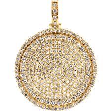 round medallion pendant 14k yellow gold