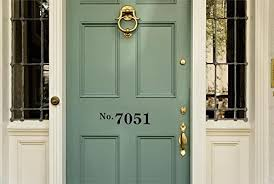 Amazon Com Enchantingly Elegant Hsnmbr1 Personalized Front Door House Street Address Vinyl Decal Sticker Lettering Numbers Business Store 15x4 15 X 4 Home Kitchen