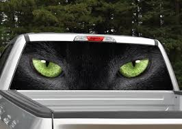 Panther Cat Eyes Rear Window Graphic Miller Graphics