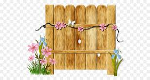 Flower Garden Clipart Fence Flower Wood Transparent Clip Art