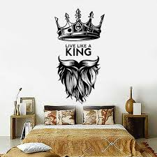 Live Like A King Vinyl Wall Decal Quote King Crown Nursery Kids Room Vinyl Wall Stickers For Bedroom Decoration Wallpaper Z305 Wall Stickers Aliexpress