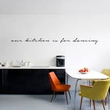 Shop Our Kitchen Is For Dancing Wall Decal 72 Inch Wide X 6 Inch Tall Overstock 11149619