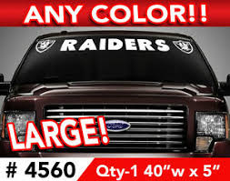 Oakland Raiders Windshield Decal Sticker 40 X 5 Any 1 Color Ebay