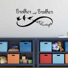 Always Infinity Personalized Brothers Name Wallpaper Decals Nursery Kids Room Boys Vinyl Wall Decals Bedroom Sweet Sticker L495 Wall Stickers Aliexpress